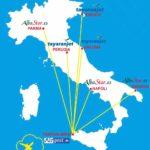 Trapani-Birgi: dall'1/11 rotte per Brindisi, Napoli, Parma, Perugia, Trieste e Ancona